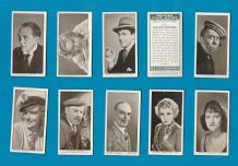 Collectable Tobacco cigarette cards set British Film Stars 1934
